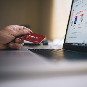 Using a card to pay for services online